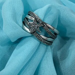 NWOT Sterling silver / cz ring
